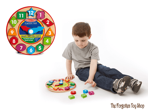 Shape Sorting Clock Melissa & Doug - The Forgotten Toy Shop Limited
