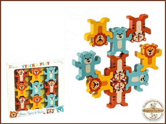 Wooden Stack and Play Animals Tobar - The Forgotten Toy Shop Limited