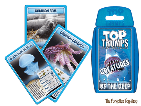Top Trumps - Creatures of the Deep Muddleit - The Forgotten Toy Shop Limited