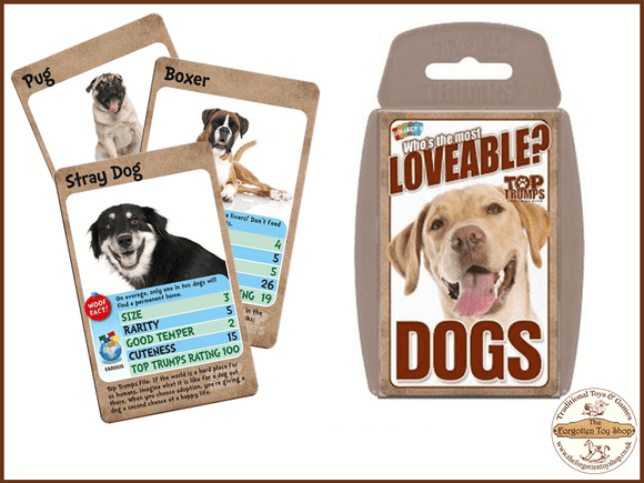 Top Trumps - Loveable Dogs Muddleit - The Forgotten Toy Shop Limited