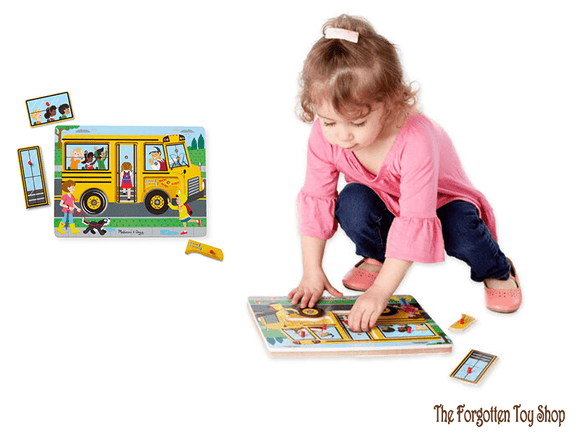 Sound Peg Puzzle - Wheels on the Bus Melissa & Doug - The Forgotten Toy Shop Limited