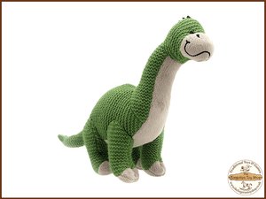 Wilberry Knitted - Brontosaurus Wilberry Toys - The Forgotten Toy Shop Limited