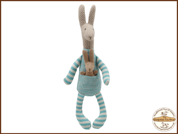 Wilberry Knitted - Kangaroo Wilberry Toys - The Forgotten Toy Shop Limited