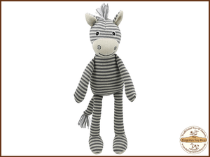 Wilberry Knitted - Zebra Wilberry Toys - The Forgotten Toy Shop Limited
