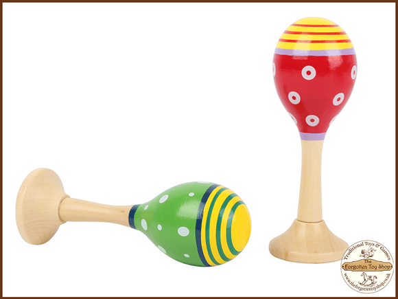 Wooden Maracas Legler - The Forgotten Toy Shop Limited
