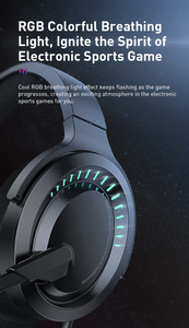 Baseus 3D Stereo Gaming Headphone USB/Type-C Colorful LED Light Wired - Baseus