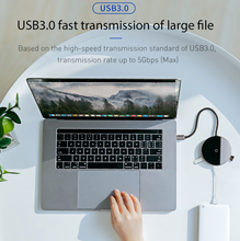Load image into Gallery viewer, Baseus USB Type C HUB to USB 3.0 + USB2.0 for Macbook Pro HUB Adapter Qi Wireless Charger - Baseus