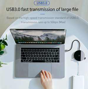 Baseus USB Type C HUB to USB 3.0 + USB2.0 for Macbook Pro HUB Adapter Qi Wireless Charger - Baseus