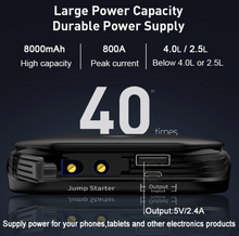 Load image into Gallery viewer, Baseus Car Jump Starter Starting Device Battery Power Bank 800A - Baseus