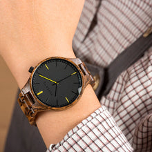 Load image into Gallery viewer, BOBO BIRD Men Wristwatch Fashion Ladies Watch Wood Bracelet Simple Dress Gfit Montre Femme High Quality Anniversary Giftsこうのたろう