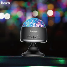 Load image into Gallery viewer, Baseus LED RGB Crystal Magic Ball Car USB Charge Auto Interior Atmosphere Light for Projector Party Lights Flash DJ Lights Home - Baseus