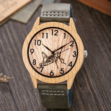 Load image into Gallery viewer, Imitation Wood Watch Men Women Quartz Imitate Wooden Watch Ostrich Deer Man Wristwatch Soft Leather Band Male Wrist Clock Reloj