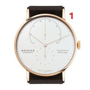 Hot Sales Men's Quartz Two Needle Half Watch Alloy Stainless Steel Watch Nomos-2 Watch