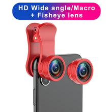 Load image into Gallery viewer, Baseus Phone Lens Wide Angle + Fisheyes lens + 15X Macro Camera - Baseus