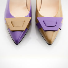 Load image into Gallery viewer, Mustard Purple Asymmetric Pump