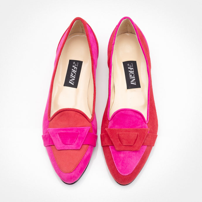 Fuchsia Red Asymmetric Slippers