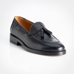 Black Polished Binder Loafer