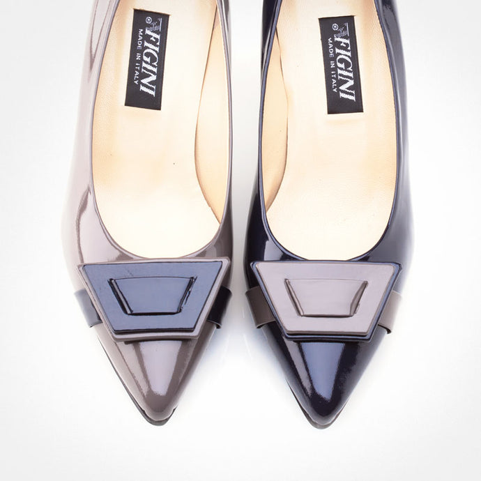 Dark Blue Grey Asymmetric Pump