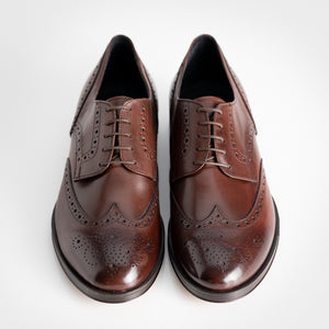 Calf Leather Derby Brogue Brown