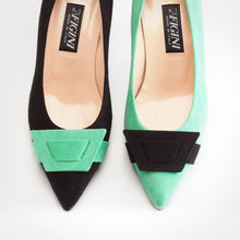 Load image into Gallery viewer, Mint Black Asymmetric Pump