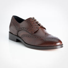 Load image into Gallery viewer, Calf Leather Derby Brogue Brown