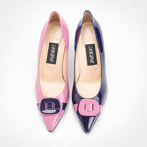 Pink Purple Patent Asymmetric Pump - 75mm