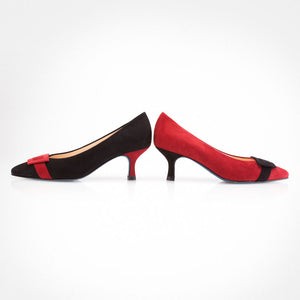 Ruby Red Black Asymmetric Pump