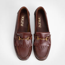Load image into Gallery viewer, Horsebit Fringe Brown Loafer