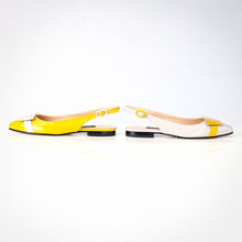 Load image into Gallery viewer, Off-white Yellow Slingback Flat