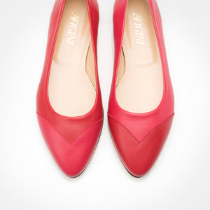 Raspberry-Red Asymmetric Flat