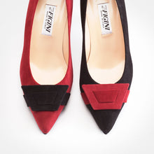 Load image into Gallery viewer, Ruby Red Black Asymmetric Pump