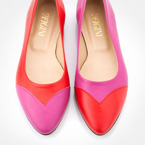 Fuchsia Red Asymmetric Flat