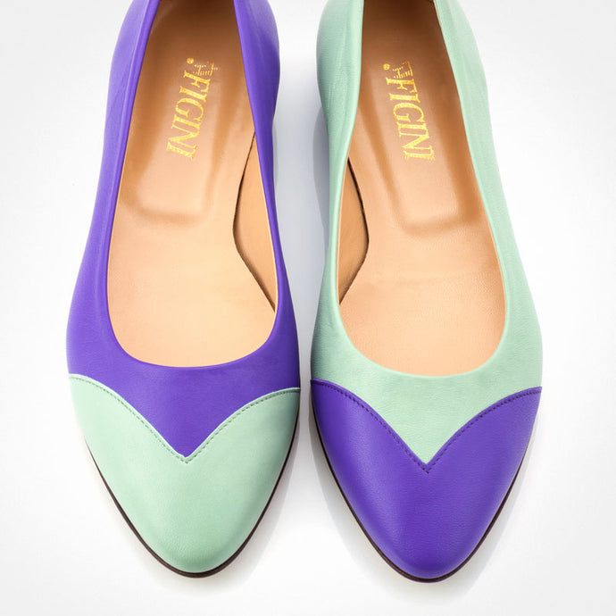 Light Blue Purple Asymmetric Flat
