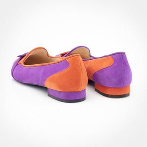 Purple Orange Asymmetric Slippers