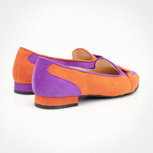 Load image into Gallery viewer, Purple Orange Asymmetric Slippers