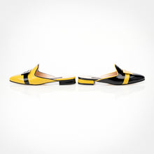 Load image into Gallery viewer, Black Yellow Asymmetric Mule Asymmetric