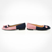 Load image into Gallery viewer, Pink Navy Blue Tassel Flats