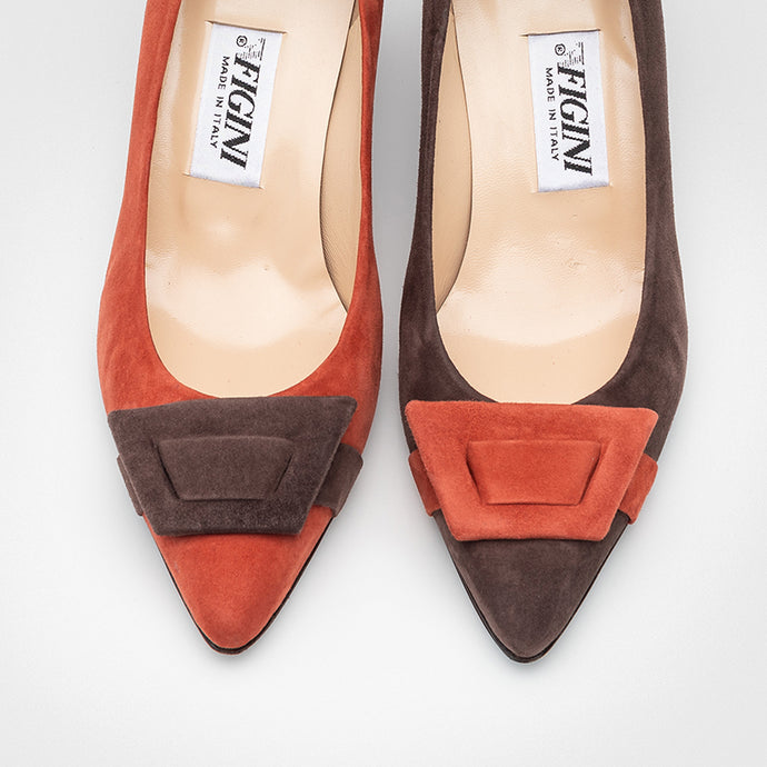 Orange Chocolate Asymmetric Pumps