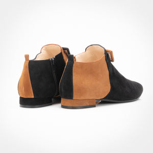 Black Mustard Asymmetric Ankle Boot