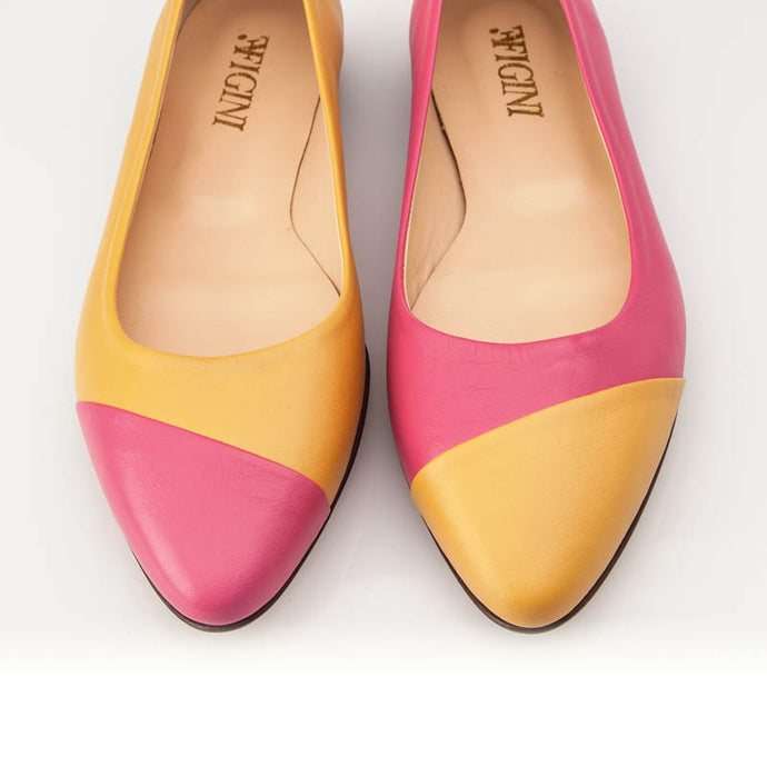 Pink Yellow Asymmetric Flat