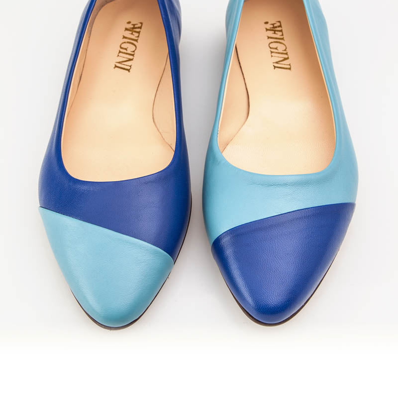 Light Dark Blue Asymmetric Flat