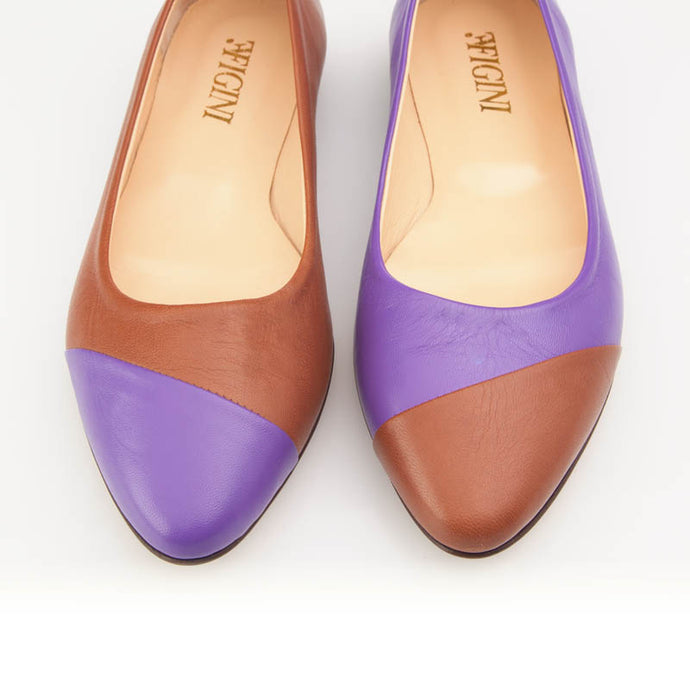 Purple Brown Asymmetric Flat