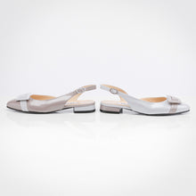 Load image into Gallery viewer, Grey shades Asymmetric Slingback Flat