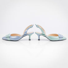 Load image into Gallery viewer, Blue shades Asymmetric Slingback Pump