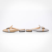 Load image into Gallery viewer, Beige Off-White Asymmetric Mule