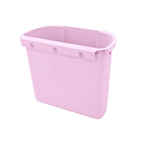 heavKin Wall Mounted Trash Can Kitchen Cabinet Door Hanging Folding Garbage Bin,Wet and Dry Separation (Pink, 25.4 x 14.6 x 15.2 cm)