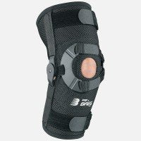 Breg PTO Standard Patella Knee Brace (Medium Left Airmesh Open Back)