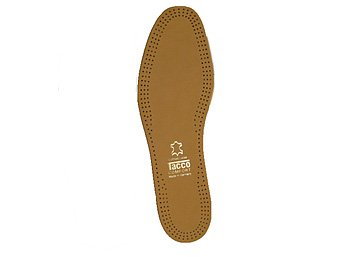 Tacco 613 Luxus Thin Sheepskin Leather Relax Flex Active Carbon Anti Odor Insoles For Men, Tan, Men's
