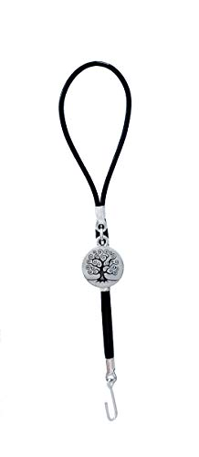 Bracelet Fastener Helper - Jewelry Helper Tool - Clasp Fastener Helper - Tree of Life in Silver and Black - Expressions Collection