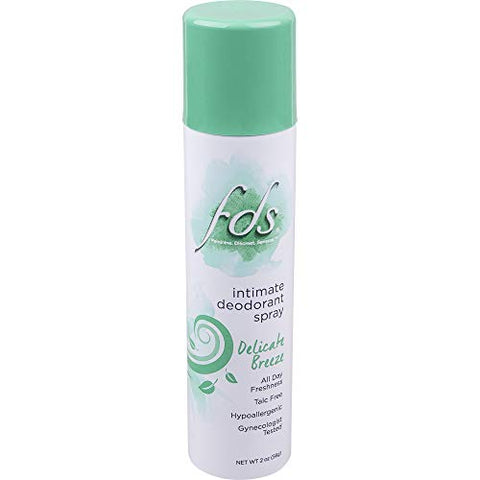FDS Feminine Deodorant Spray Delicate Breeze 2 oz (Pack of 4)